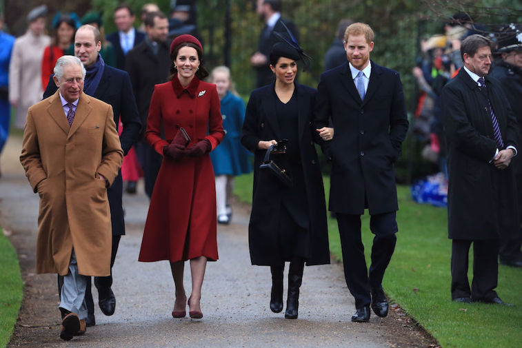 Prince Charles with the Dukes and Duchesses of Cambridge and Sussex