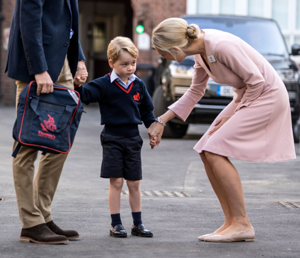 Prince George at school