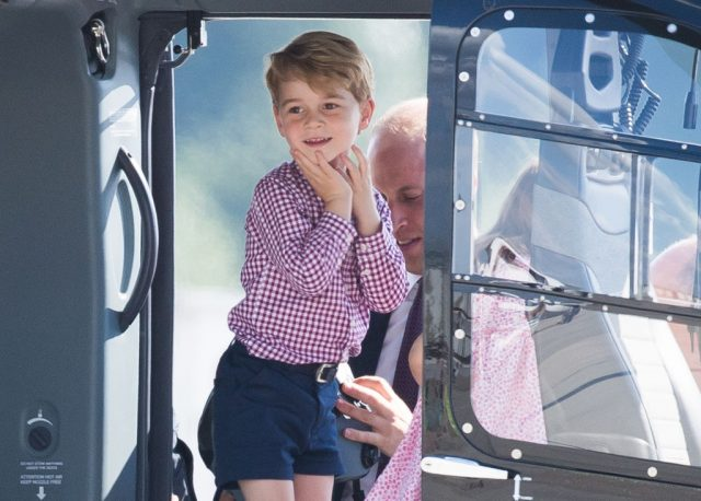 Prince George in helicopter