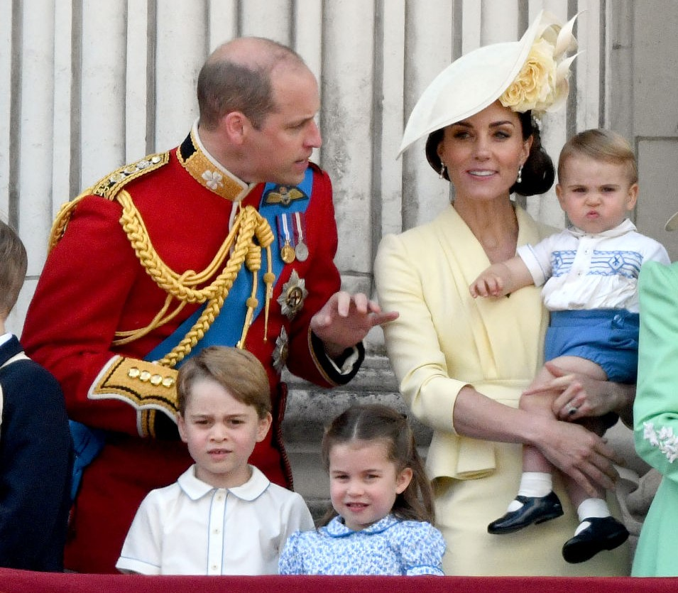 Prince William, Kate Middleton, Prince Louis, Prince George, and Princess Charlotte