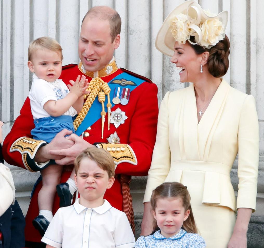 Prince William, Prince Louis, Kate Middleton, Prince George, and Princess Charlotte