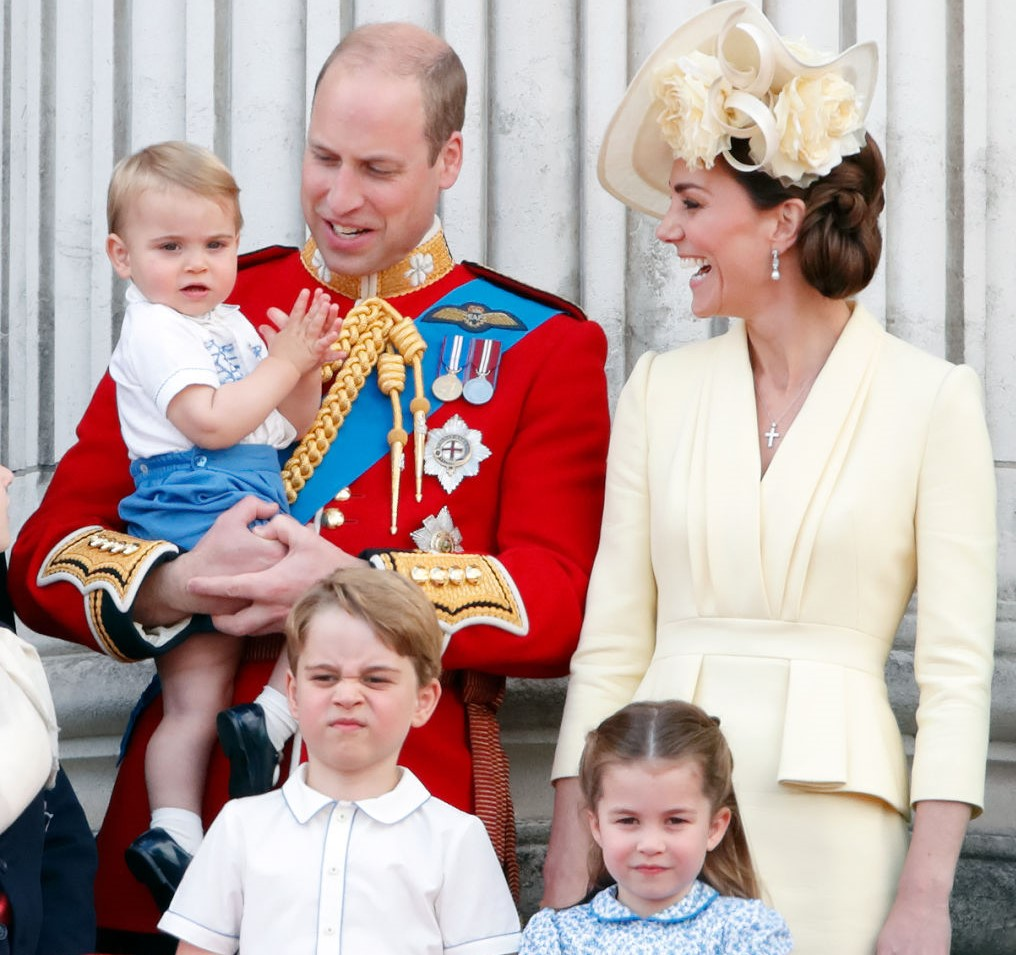 Prince William, Prince Louis, Kate Middleton, Prince George, and Princess Charlotte