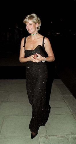 Princess Diana at Tate Gallery party on her birthday.