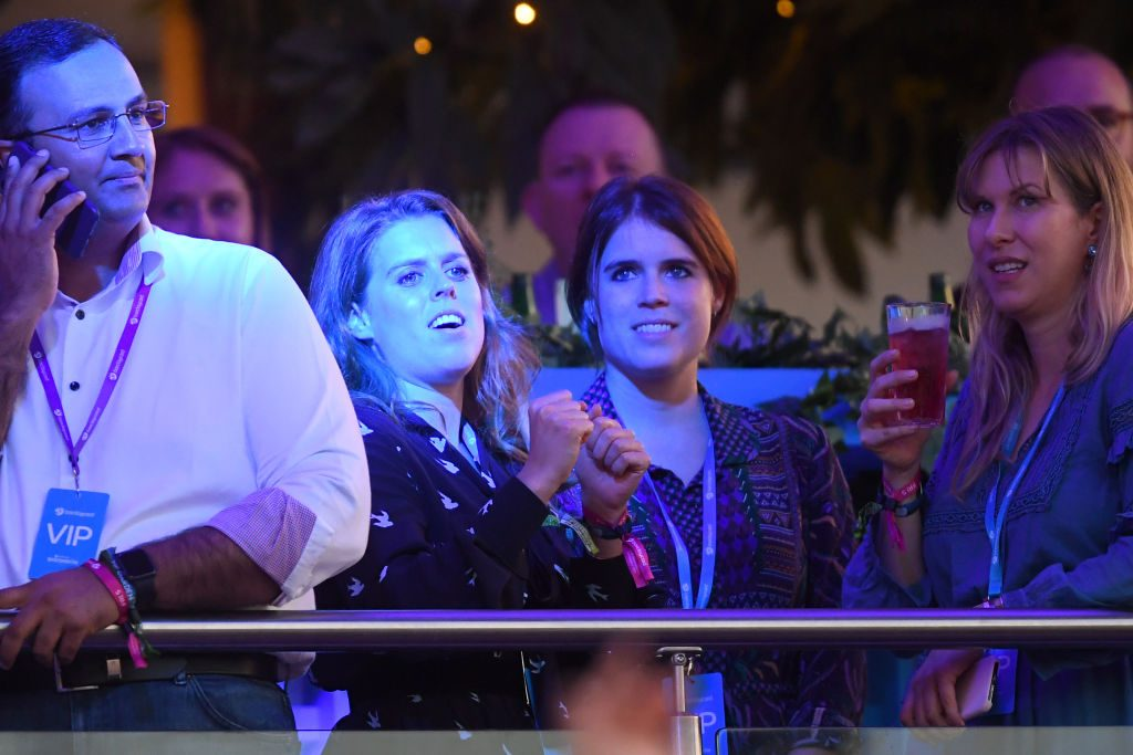 Princess Beatrice of York (L) and Princess Eugenie of York attend Barclaycard Presents British Summer Time Hyde Park