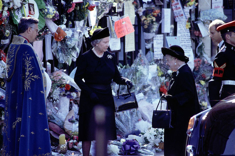 Queen Elizabeth at Princess Diana's funeral
