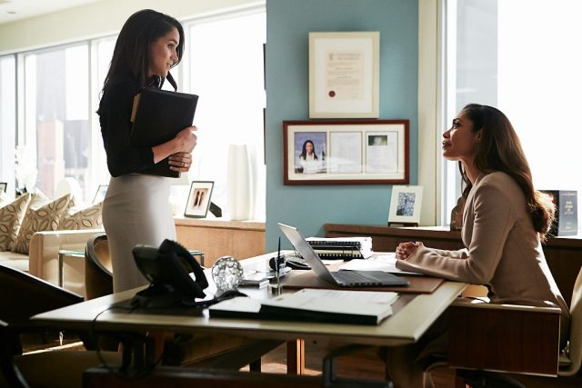 Gina Torres and Meghan Markle on 'Suits'.