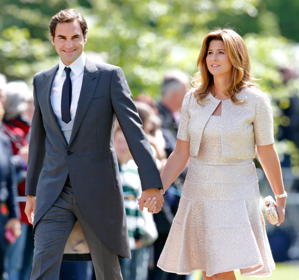 Roger Federer and his wife, Mirka Federer