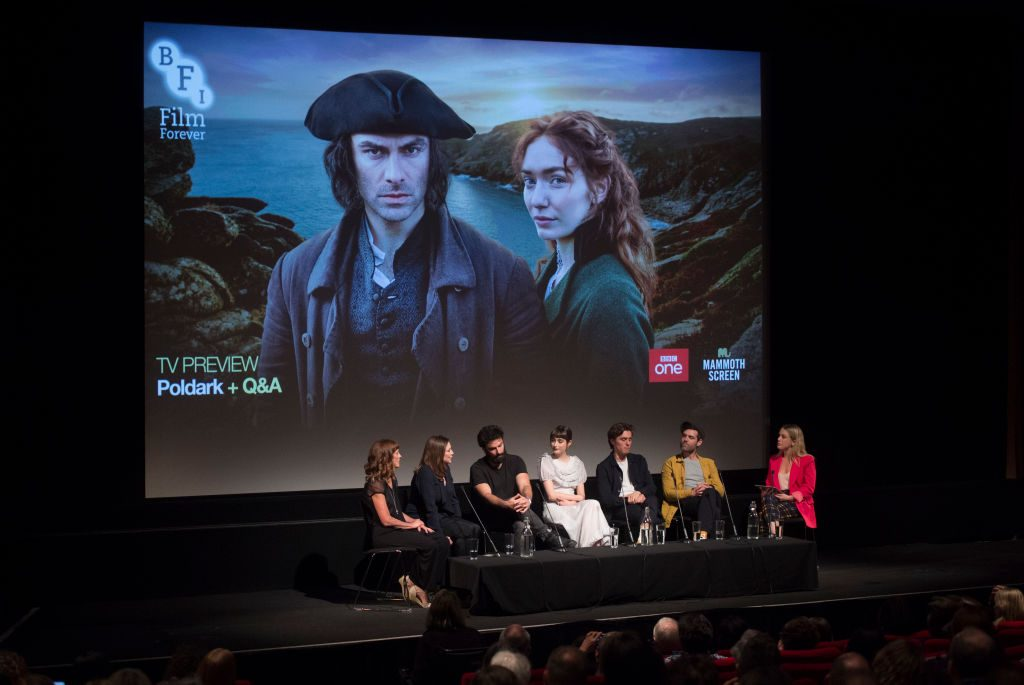 "Q&A session, for ""Poldark"" at BFI Southbank 