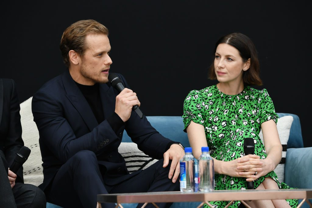 Sam Heughan (L) and Caitriona Balfe | Michael Kovac/Getty Images for STARZ Entertainment LLC