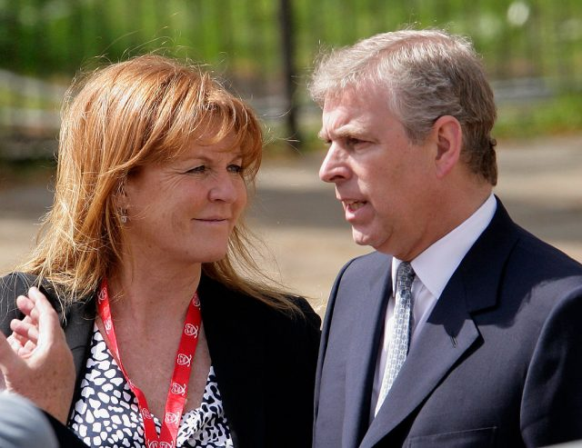 Sarah Ferguson and Prince Andrew, Duchess and Duke of York.