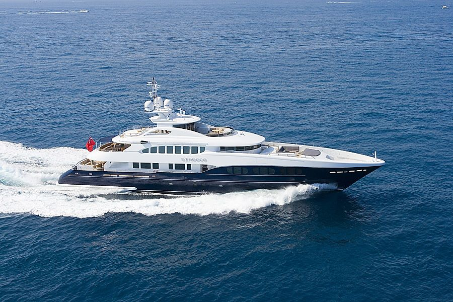 Heesen Sirocco yacht of Luciano Benetton in Monaco