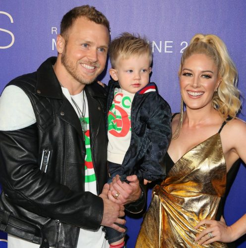 Spencer Pratt, Gunner Pratt, and Heidi Montag.