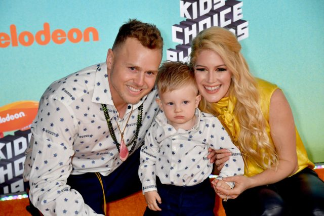 Spencer Pratt, Gunner Stone, and Heidi Montag attend Nickelodeon's 2019 Kids' Choice Awards at Galen Center on March 23, 2019 in Los Angeles, California.