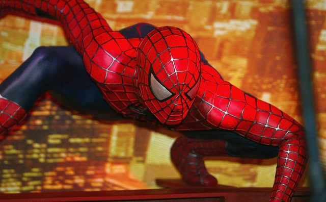 Spider Man at Madame Tussauds in 2004.