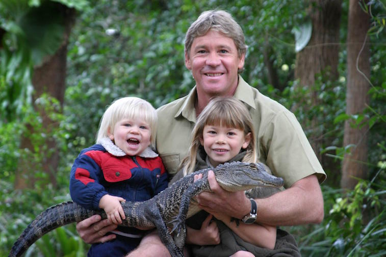 Bob, Steve and Bindi Irwin