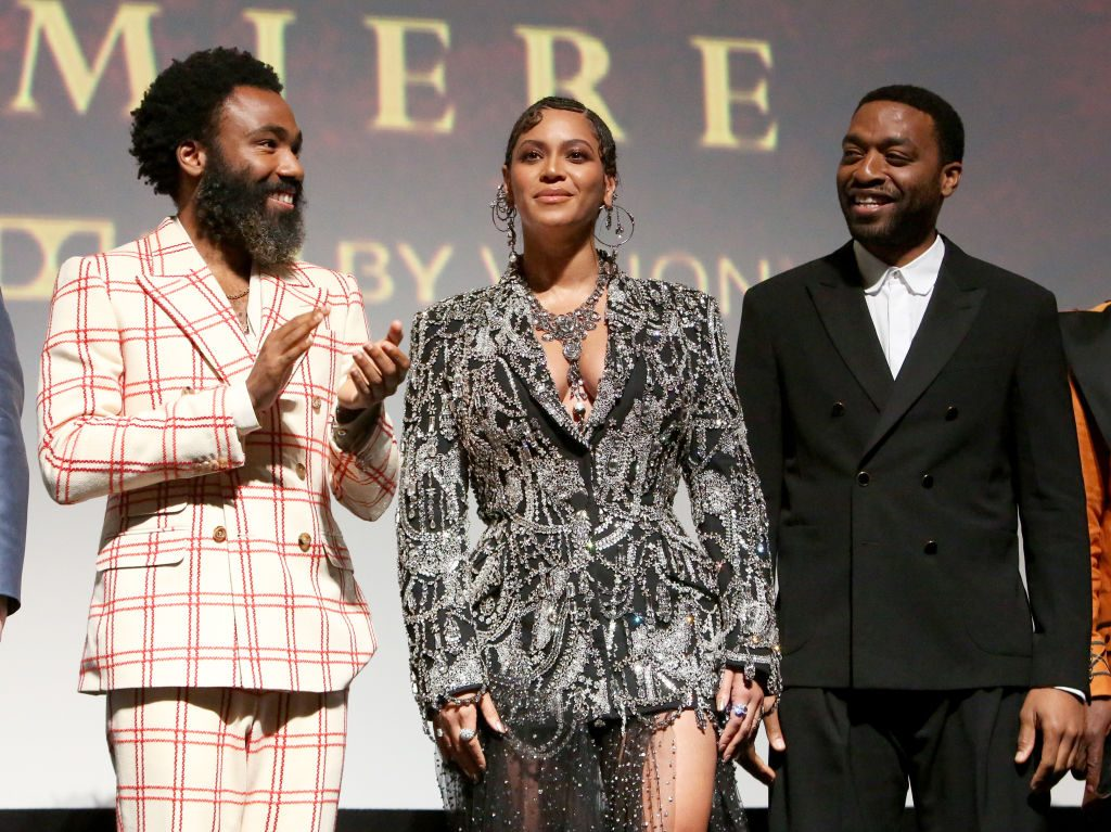 Donald Glover, Beyoncé Knowles-Carter, and Chiwetel Ejiofor The Lion King