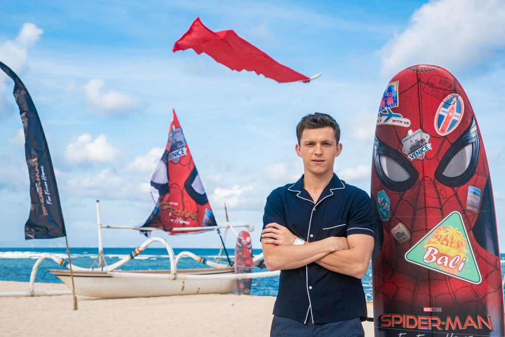 """Tom Holland attends a photocall for """"Spider-Man: Far From Home"""""""