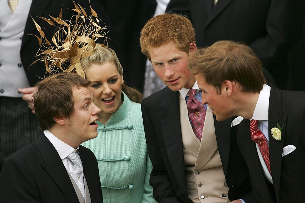 Tom Parker Bowles, Laura Parker Bowles, Prince Harry and Prince William