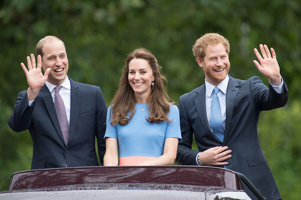 Prince William, Prince Harry, and Kate Middleton