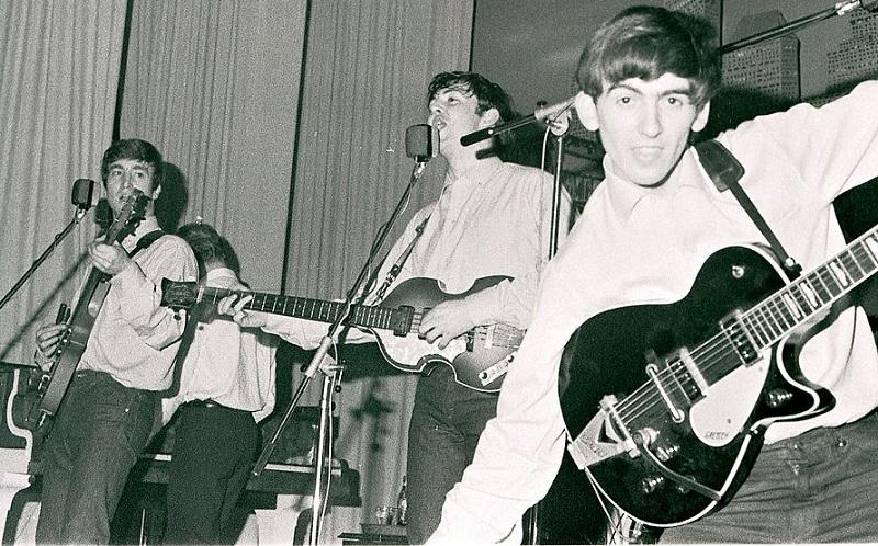 Beatles play Hamburg, 1962.