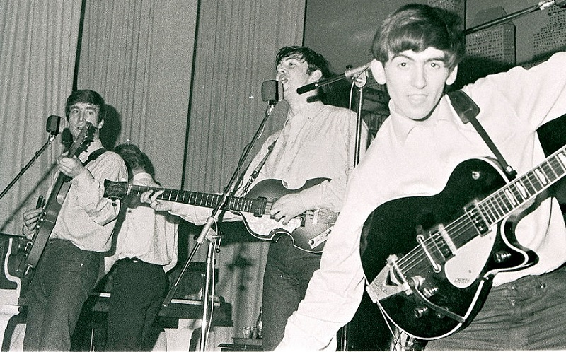 Beatles play Hamburg, 1962.