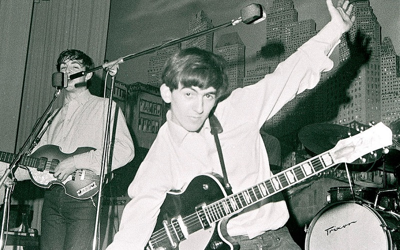 George Harrison with the Beatles in 1962