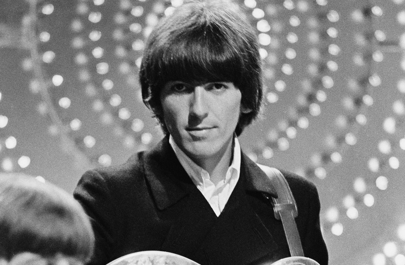 george harrison of the beatles onstage 1966