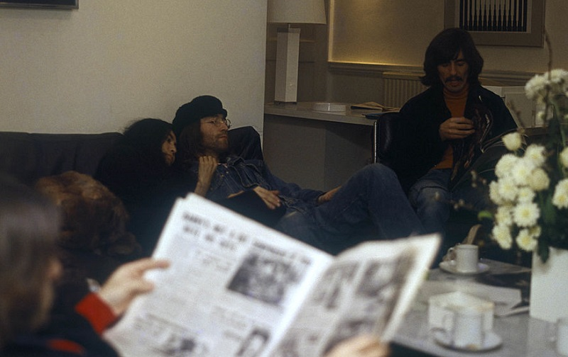 Beatles and Yoko in 1969