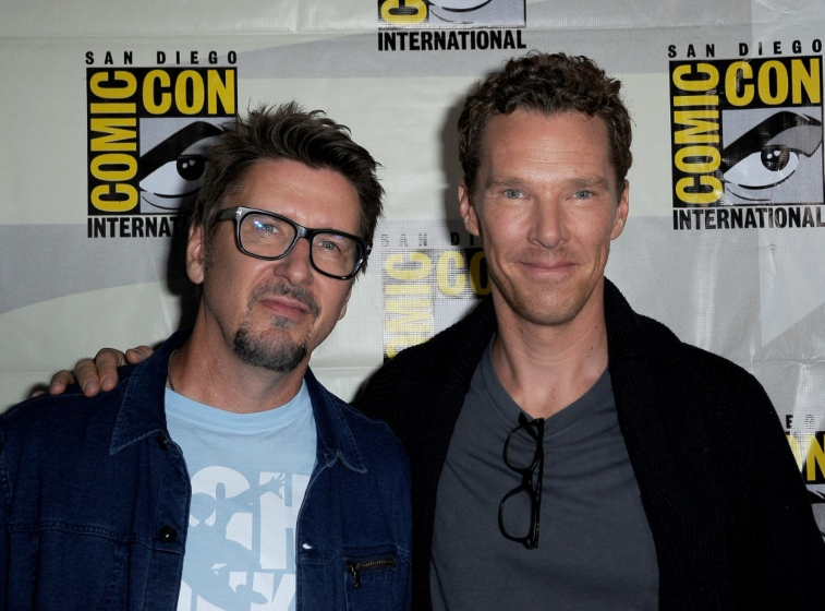 Director Scott Derrickson and Benedict Cumberbatch