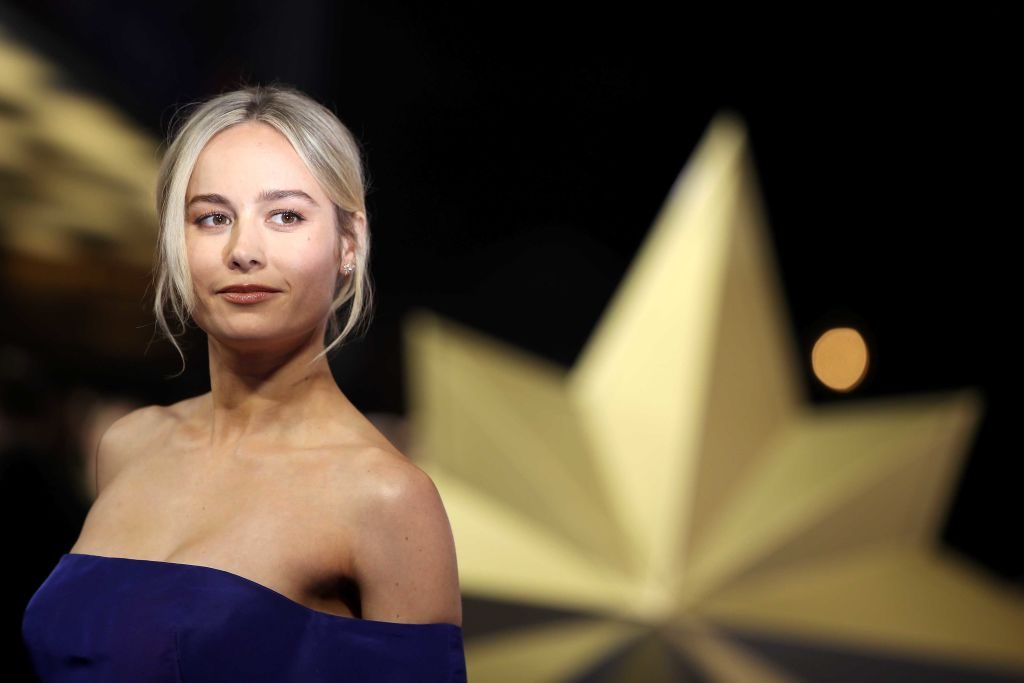 """Brie Larson attends the """"Captain Marvel European Gala"""" held at The Curzon Mayfair on February 27, 2019, in London, England."""