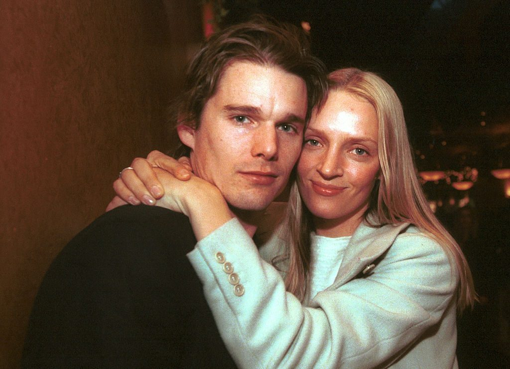 Ethan Hawke and Uma Thurman at the 2000 Sundance Film Festival in Park City, Utah at the Various Locations in Park City, UT.