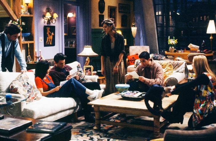 Lisa Kudrow as Phoebe Buffay, Matt LeBlanc as Joey Tribbiani, Jennifer Aniston as Rachel Green, David Schwimmer as Ross Geller, Matthew Perry as Chandler Bing, Courteney Cox Arquette as Monica Geller