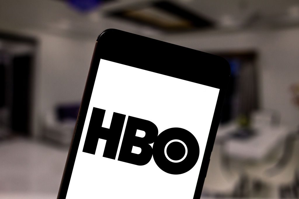 In this photo illustration the Home Box Office (HBO) logo is seen displayed on a smartphone.