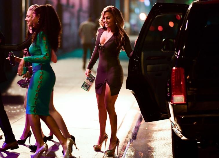 Jennifer Lopez seen on location for 'Hustlers'