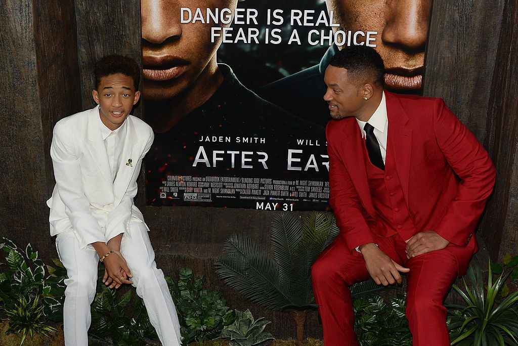 Actors Jaden Smith and Will Smith attend the After Earth premiere on May 29, 2013 at the Ziegfeld Theater in New York City.