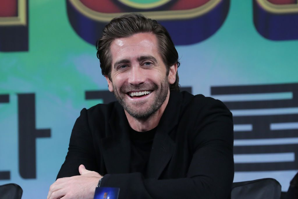 Actor Jake Gyllenhaal attends the press conference for Spider-Man: Far From Home Seoul premiere on July 01, 2019 in Seoul, South Korea.