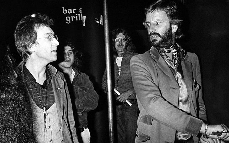 John Lennon and Ringo Starr in 1975