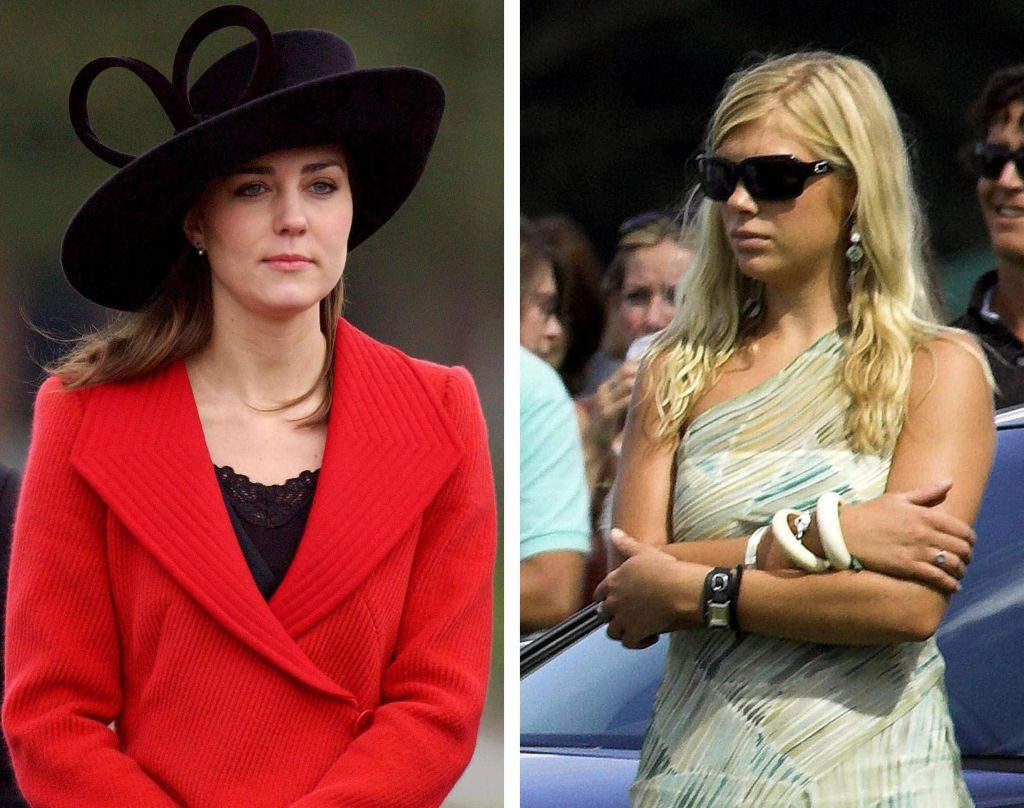 Kate Middleton (L) and Chelsy Davy (R)