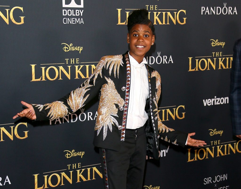 JD McCrary attends the premiere of Disney's The Lion King at Dolby Theatre on July 09, 2019 in Hollywood, California.