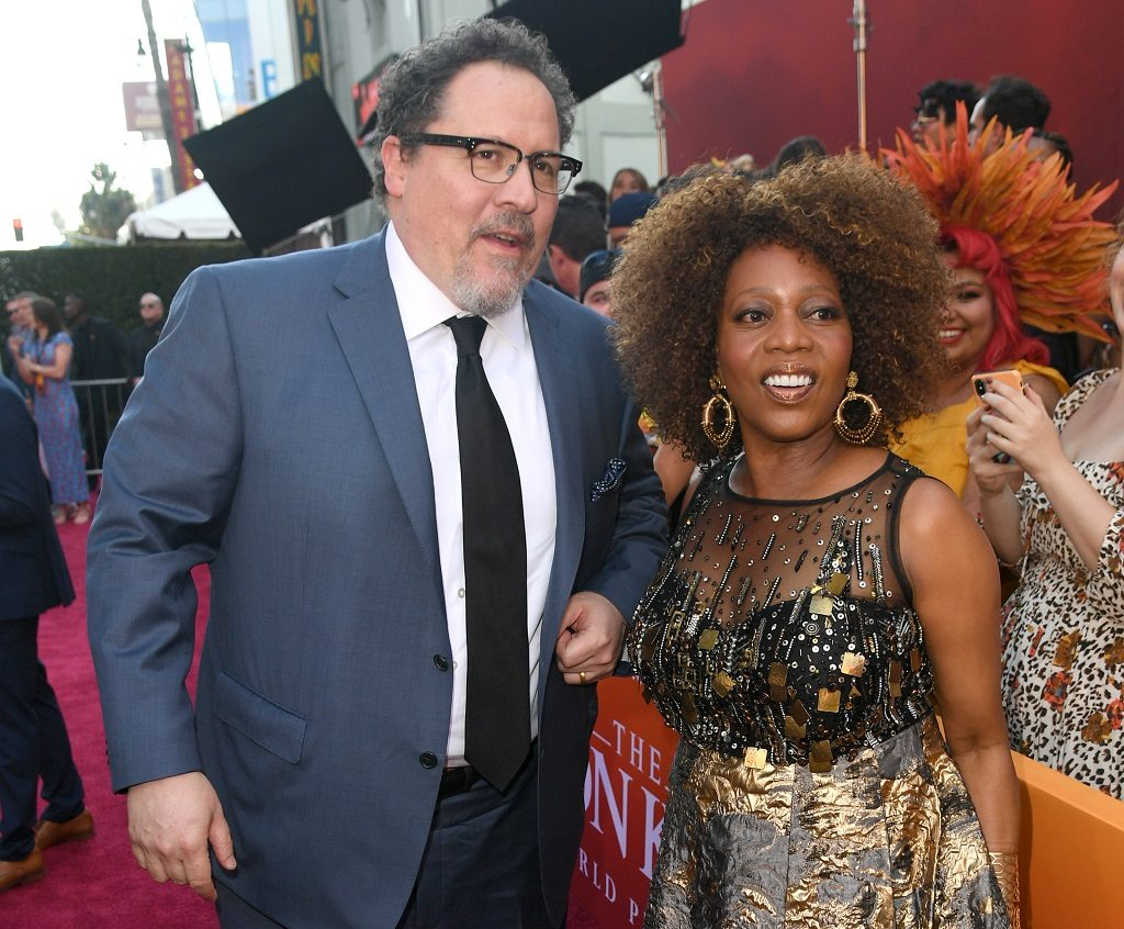 (L-R) Jon Favreau and Alfre Woodard attend the premiere of Disney's The Lion King at Dolby Theatre on July 09, 2019 in Hollywood, California.