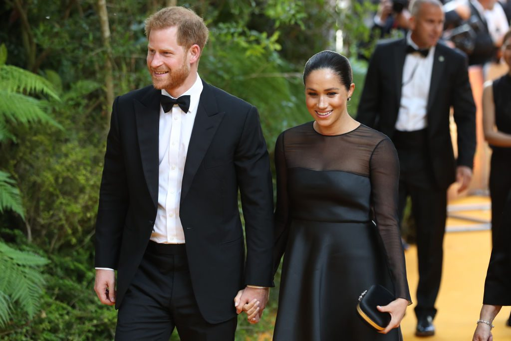 Prince Harry and Meghan Markle The Lion King - London