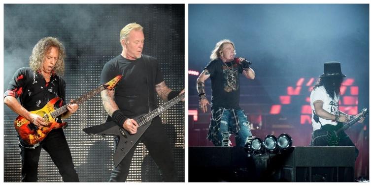 Metallica and Guns N' Roses