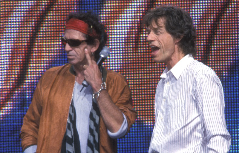 rolling stones mick jagger and keith richards in 2002