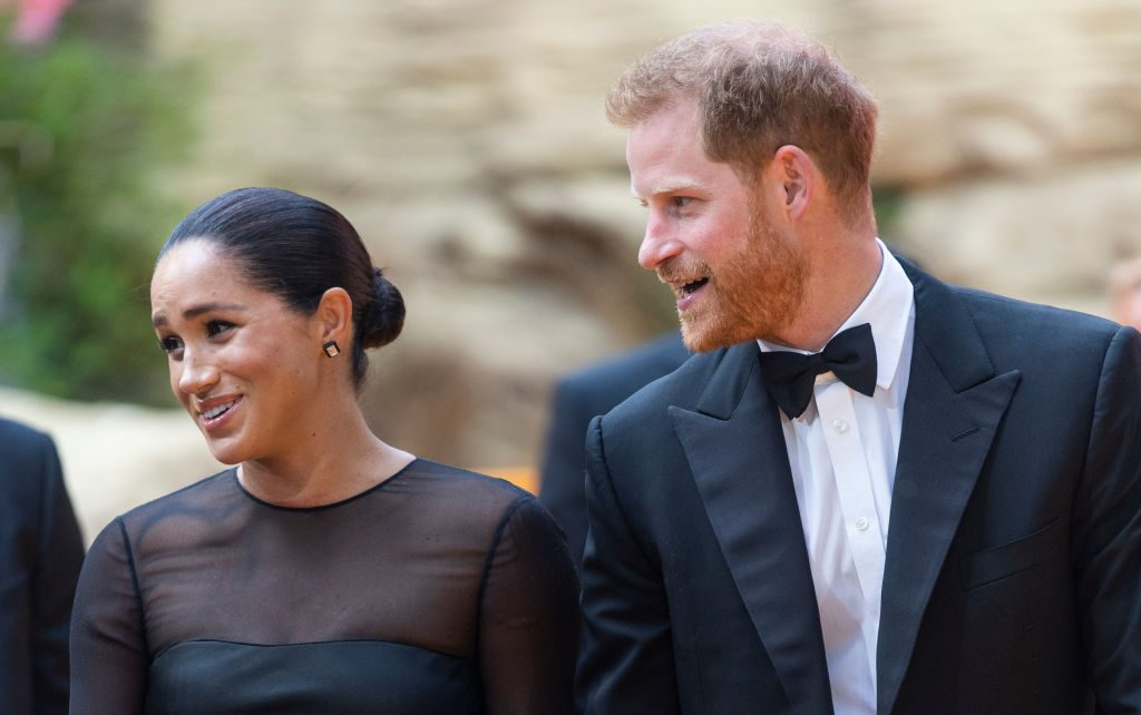 """Prince Harry and Meghan Markle at The Lion King"""" European Premiere - Red Carpet Arrivals"""