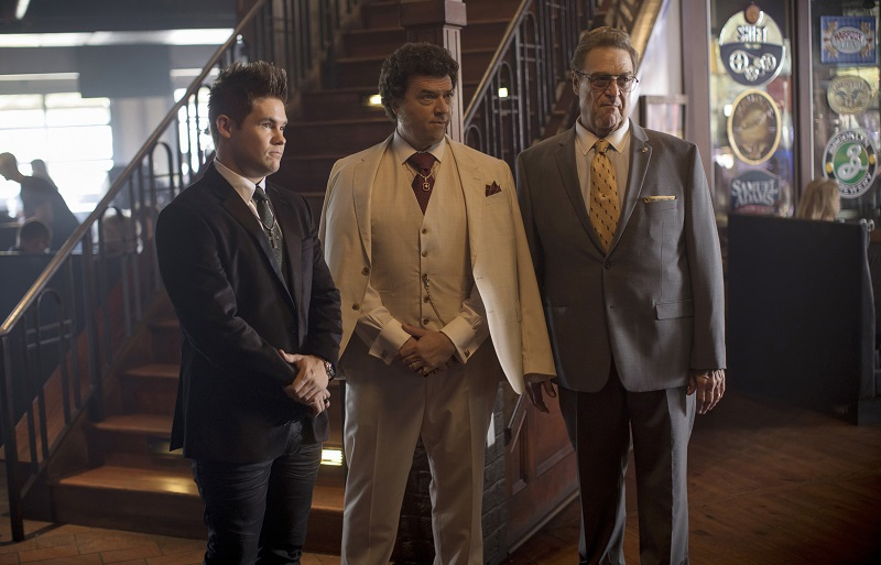 Danny McBride with Adam Devine and John Goodman in 'The Righteous Gemstones'