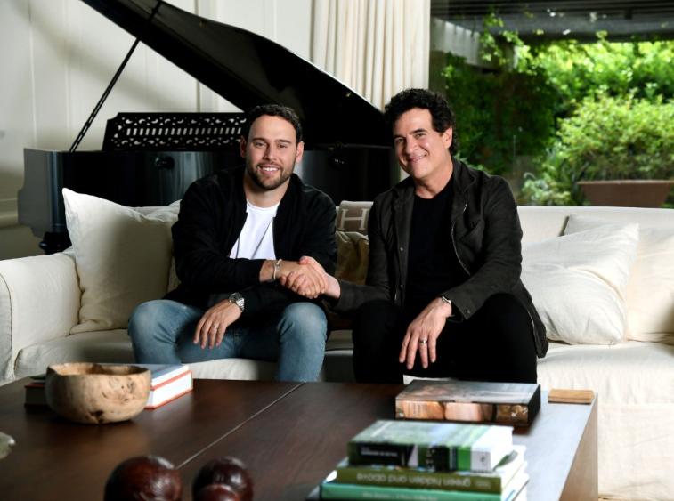 Scooter Braun and Scott Borchetta