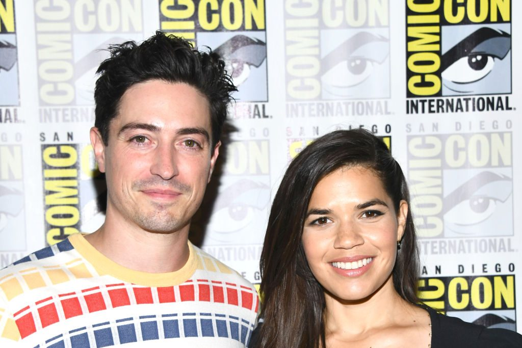Ben Feldman and America Ferrera at the press line for Superstore at 2019 Comic-Con International - Day 1  on July 18, 2019 in San Diego, California.