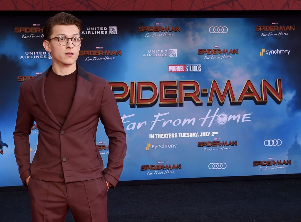 Tom Holland attends the premiere of Sony Pictures' Spider-Man: Far From Home at TCL Chinese Theatre on June 26, 2019, in Hollywood, California.