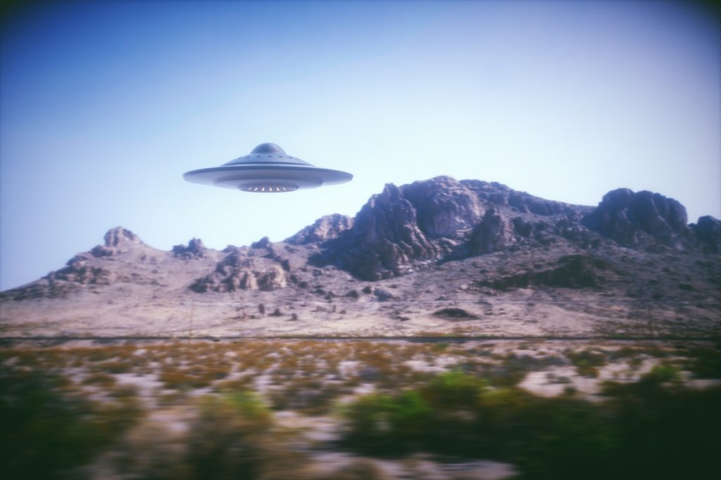 UFO in mountains