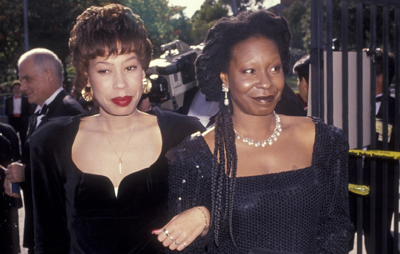 Whoopi and daughter Alex Martin at the '91 Oscars